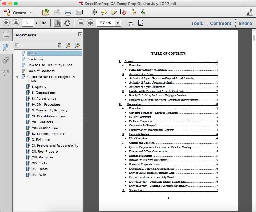 criminal law essay checklist
